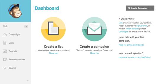 UI design: MailChimp