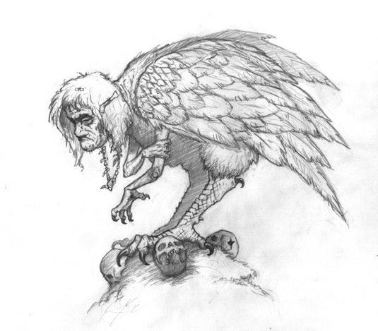 Gallery For gt Scary Bird Drawing