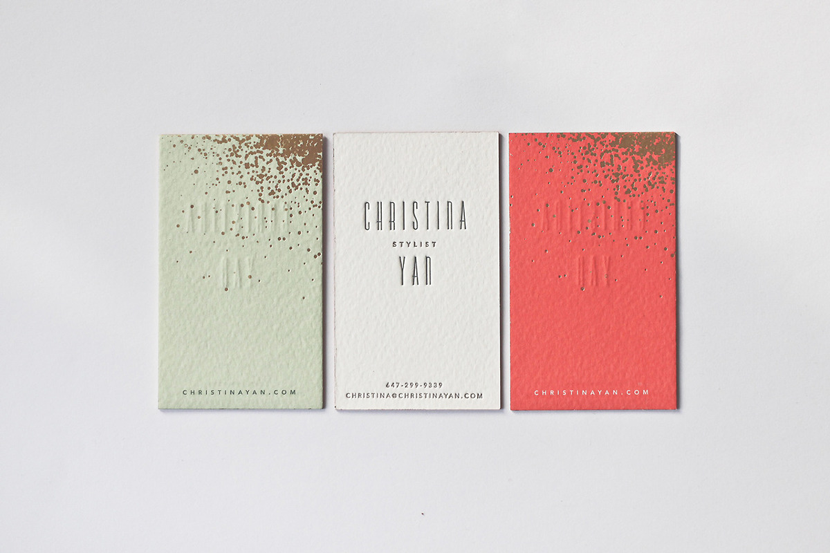 Letterpress business cards: Belinda Love Lee