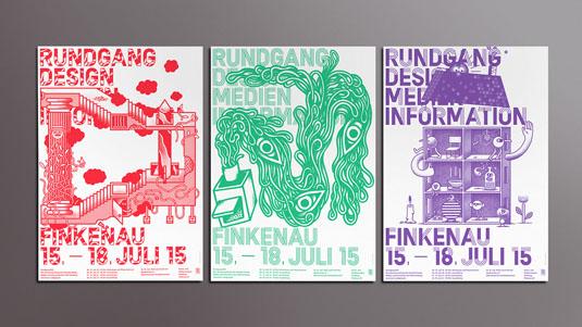 Flyer design: Rundgang DMI