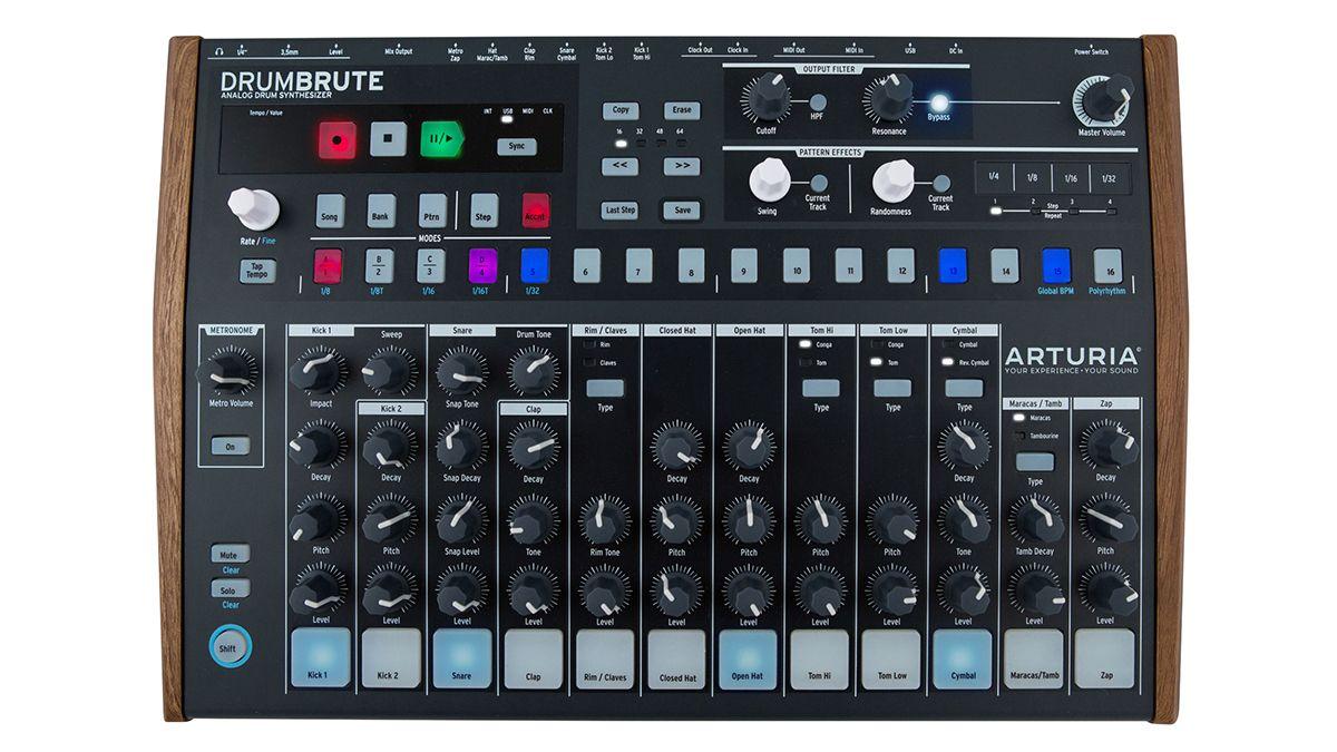 arturia uncages the drumbrute a 499 all analogue drum machine musicradar. Black Bedroom Furniture Sets. Home Design Ideas