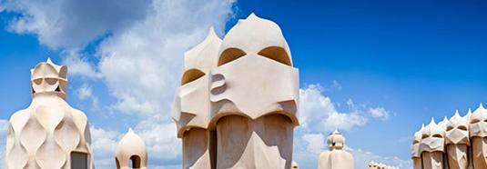Antoni Gaudi Pedrera chimneys