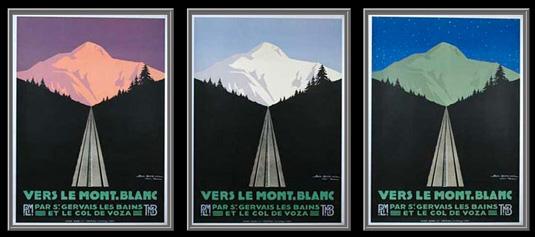 Vintage posters - Vers Le Mont Blanc