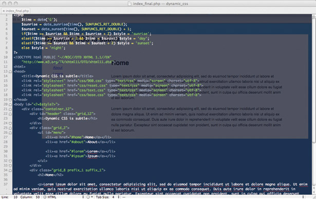 Create time sensitive sites - PHP code changes the background according to time