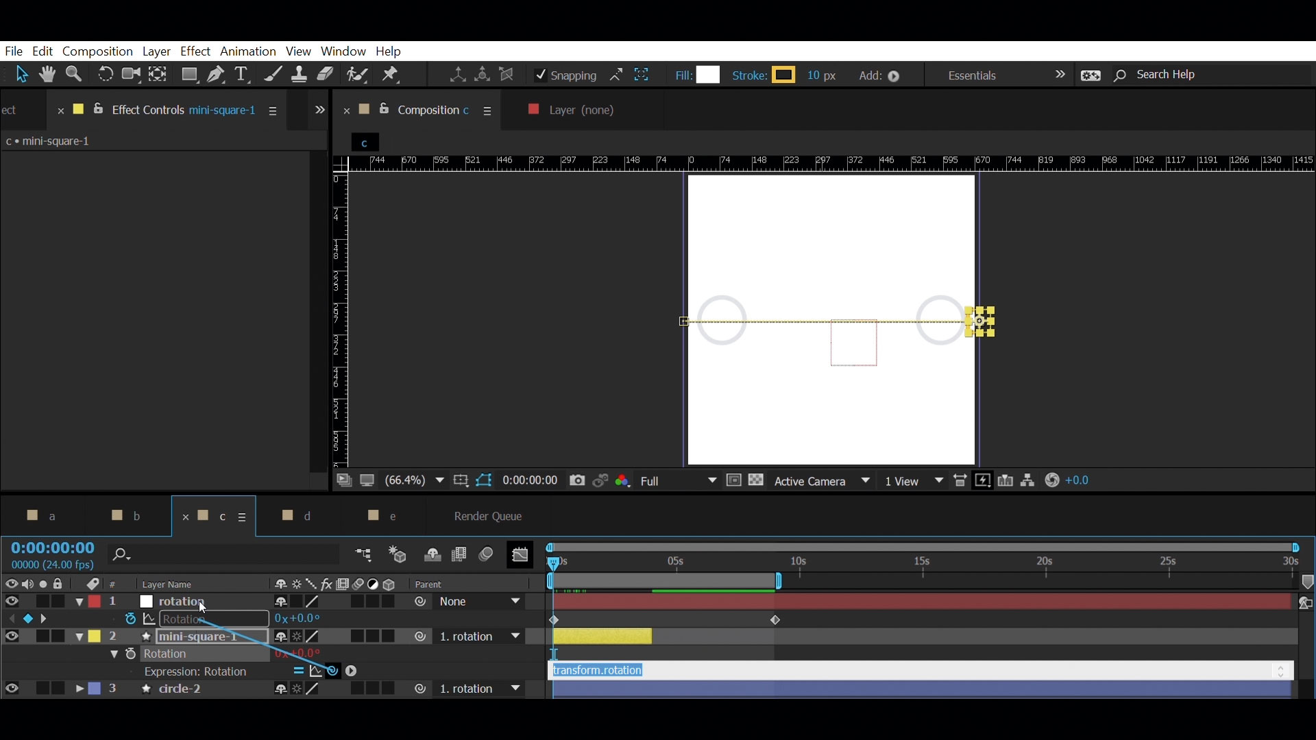 Create a seamless repeat animation in After Effects - Orientation