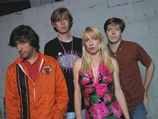 Sonic Youth back in the day 1990 from left Lee Ranaldo Thurston Moore Kim Gordon and Steve Shelley
