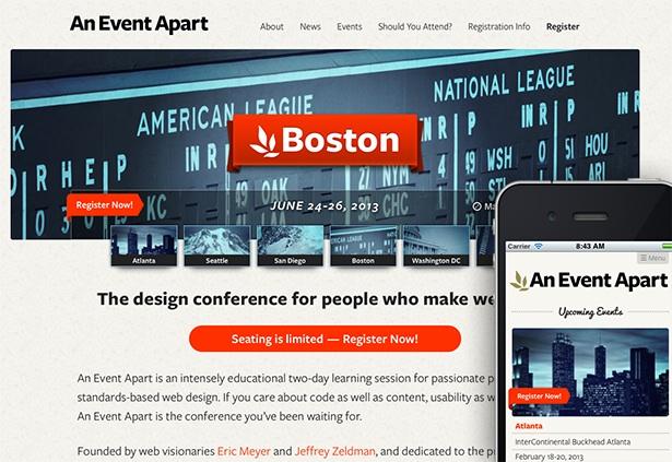 Best responsive websites: An Event Apart