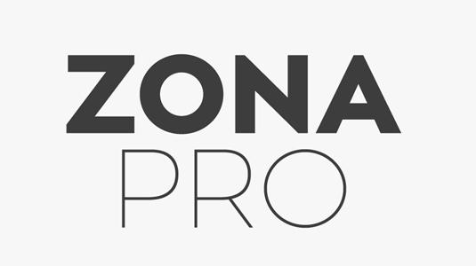 Free font: Zona Pro