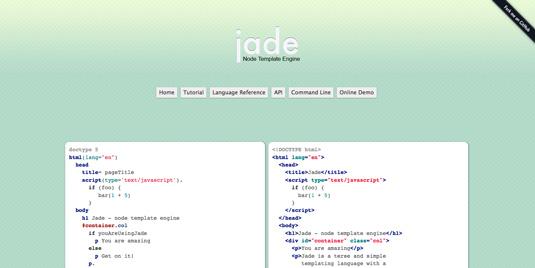 JavaScript templates