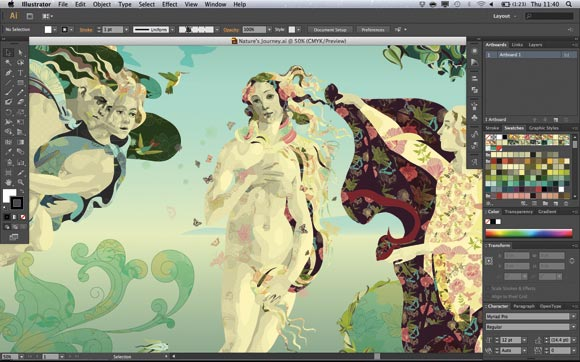 Adobe Illustrator CS6: a hugely complicated file