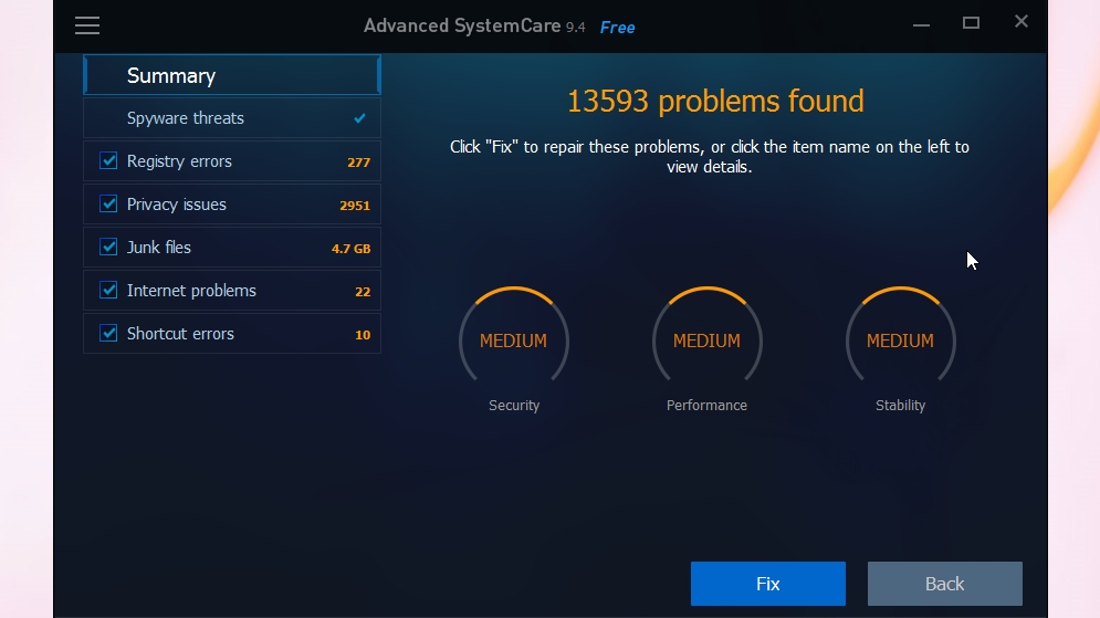 IObit Advanced SystemCare is great for novice users wanting a PC speed boost