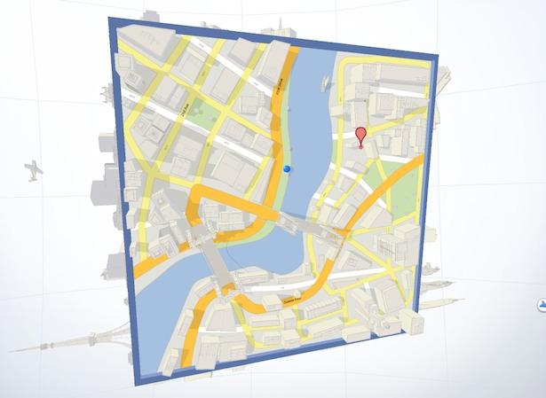 WebGL sites: Google Maps Cube Game
