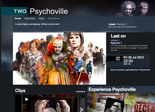 Win a web design award: Psychoville