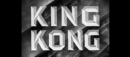 Typography in movies: King Kong