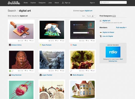 Digital art resources