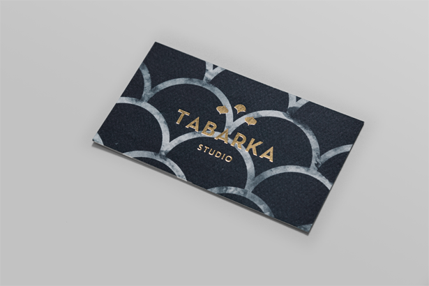 The front of the new business cards for Tabarka Studio