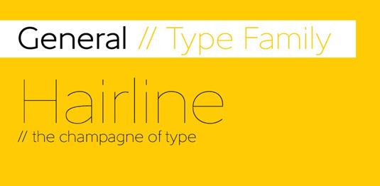 General font