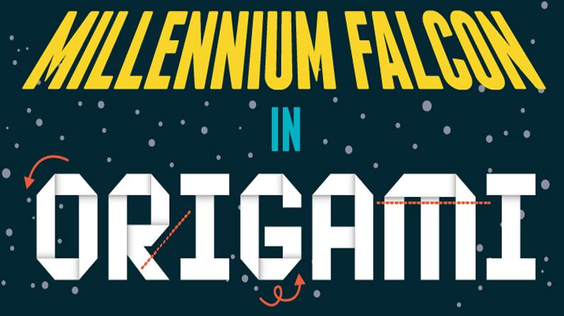 Millenium Falcon in Origami