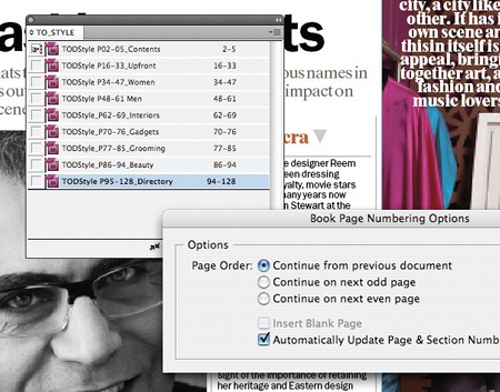 Rearrange documents, Book file, Indesign
