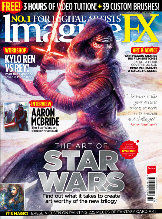 imaginefx issue 129 cover star wars kylo ren