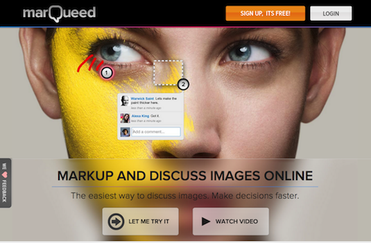 Online collaboration tools: Marqueed