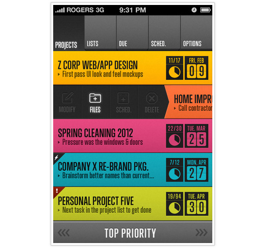 iPhone app designs: HQ 2.0