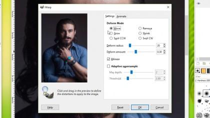iWarp for GIMP - deform options