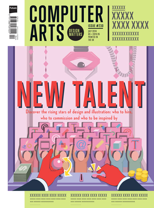 Cover design for CA's New Talent issue by Eric Chow