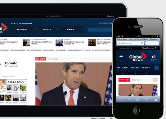 Responsive news websites: Global News