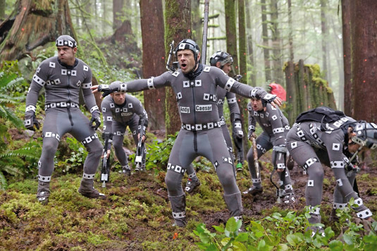 Andy Serkis and the other actors helped portray the creatures with mocap