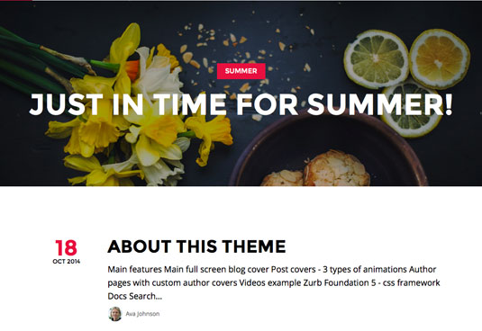 Website templates - Summer