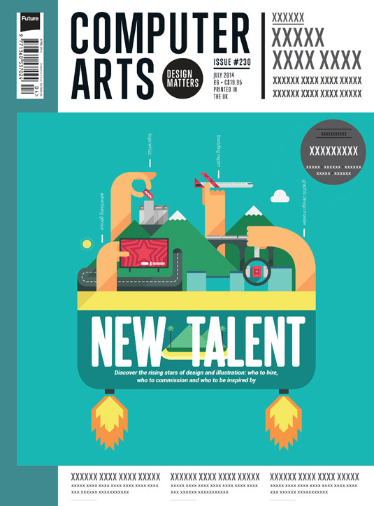 Cover design for CA's New Talent issue by Michael Lester