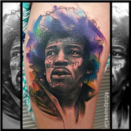 13 incredible examples of watercolor tattoo art: Russell Van Schaick