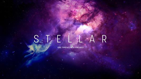 Free font: Stellar