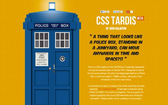 CSS3 images: TARDIS/Police Box