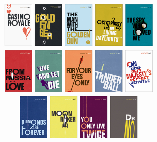 Book Covers And Typography : New cover designs for james bond books creative bloq