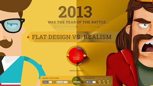 Example of parallax scrolling websites: Flat vs Realism