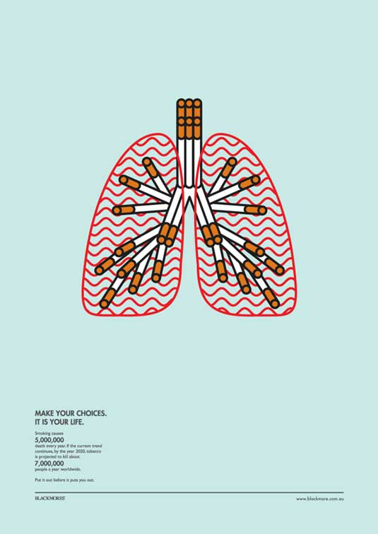 Stylish infographic puts a new spin on anti-smoking ...