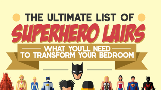 ultimate list of superhero lairs