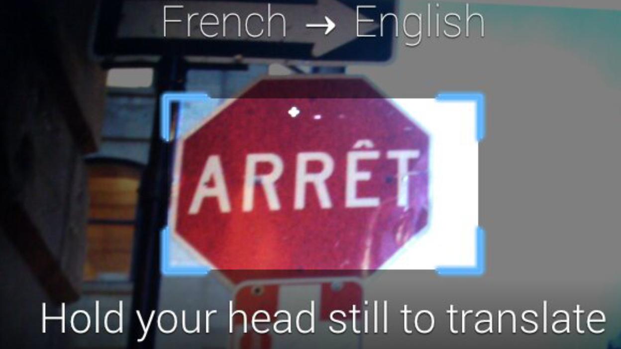 World Lens Google Glass translation app