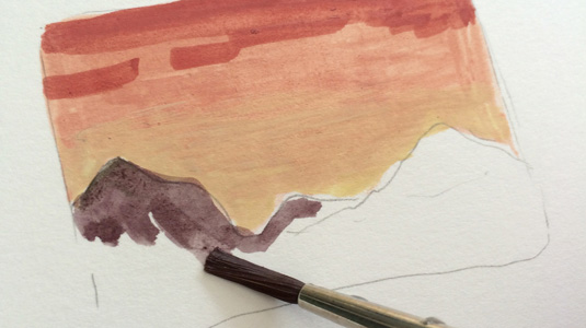 How to paint with gouache: staining