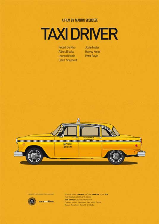how to design a poster: Taxi Driver