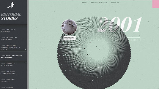 HTML examples: Histography