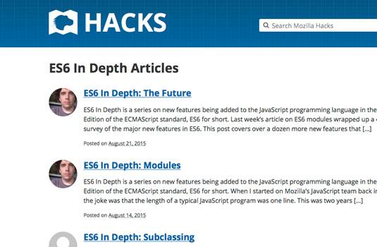 ES6: Mozilla Hacks