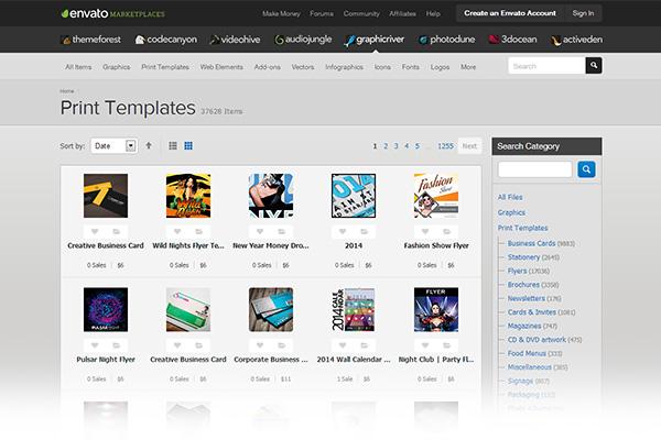 Print design templates Graphic River