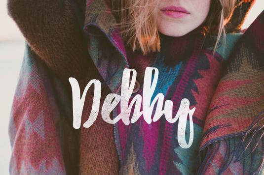 Free font: Debby