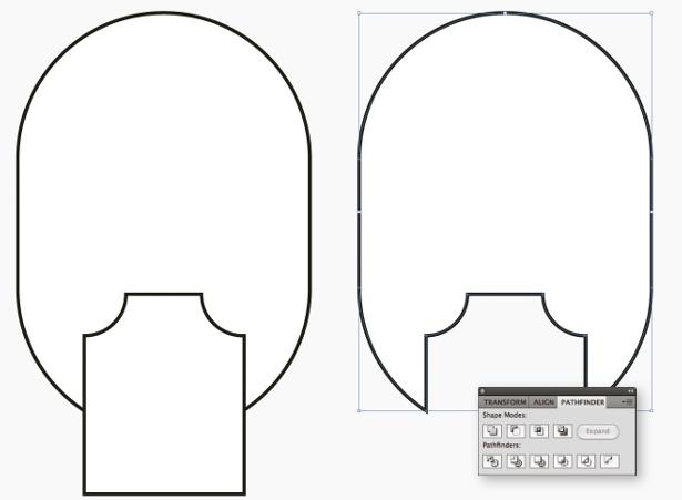 Pathfinder in Illustrator: step 3