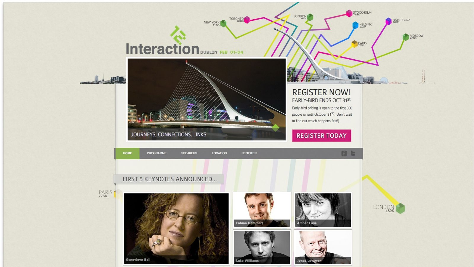 The talks at Interaction12, to be held in Dublin from 1 to 4 February, are chosen by a conference committee