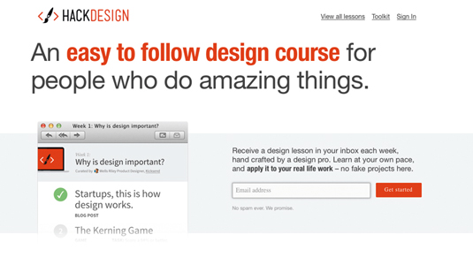 Online coding course: Hack Design