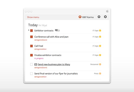 Todoist screengrab